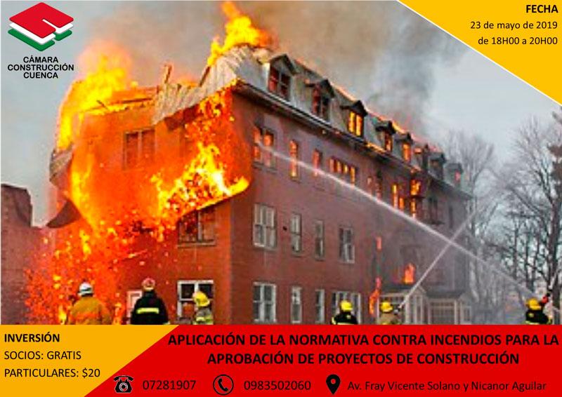 Aplicación de la normativa contra incendios para la aprobación de proyectos de construcción