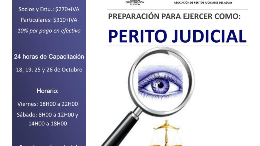 PREPARACIÓN PARA EJERCER COMO PERITO JUDICIAL