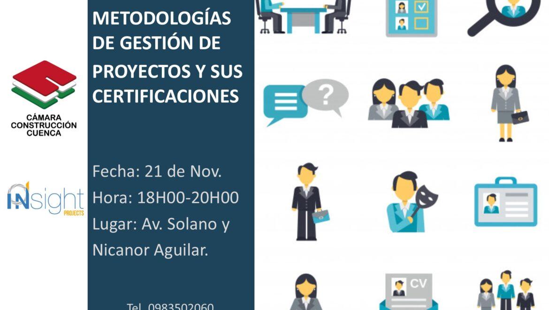 METODOLOGÍA DE GESTIÓN DE PROYECTOS Y SUS CERTIFICACIONES