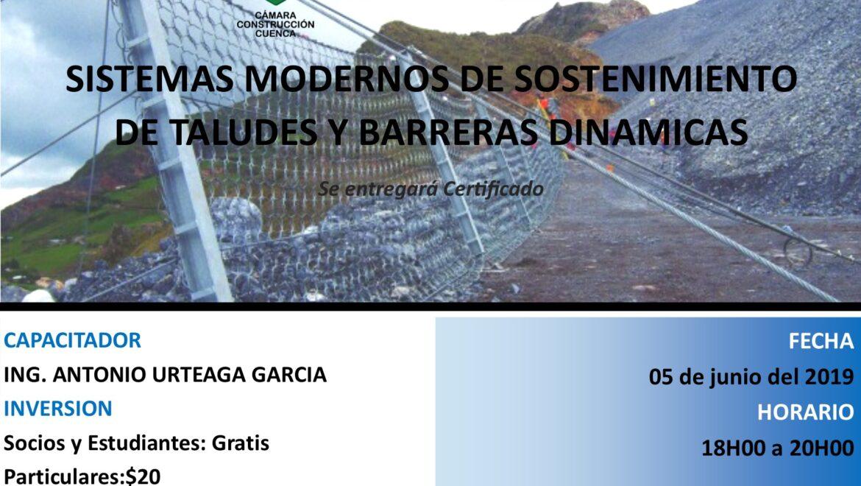 SISTEMAS MODERNOS DE SOSTENIMIENTO DE TALUDES Y BARRERAS DINAMICAS