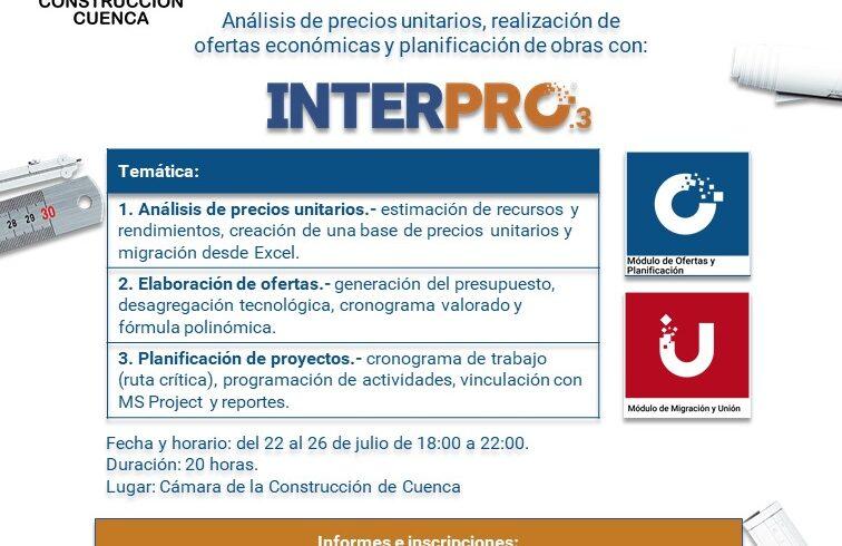 ANÁLISIS DE PRECIOS UNITARIOS CON INTERPRO 3